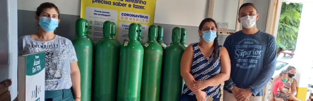 Energisa Doa 10 Cilindros de Oxigênio Para Santa Terezinha