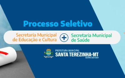 Prefeitura de Santa Terezinha Lança Processo Seletivo Para Contratação de 44 Profissionais Para as Secretarias de Educação e de Saúde