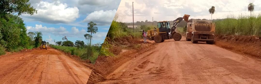 Secretaria de Obras de Santa Terezinha Conclui Manutenção, Cascalhamento e Reabertura da Estrada Vicinal São José/Xanadú. Assista ao Vídeo!