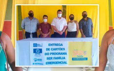 Cartões do Programa Ser Família Emergencial são Entregues em Santa Terezinha