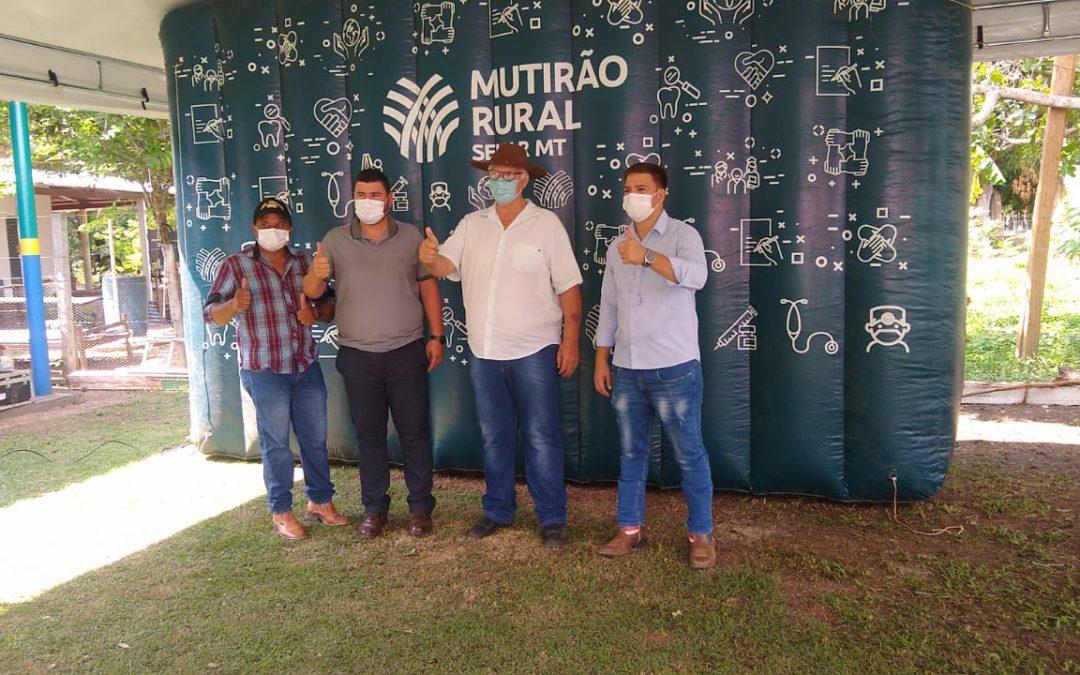Prefeitura de Santa Terezinha, Senar-MT e Sindicato Rural de Vila Rica realizam grande Mutirão Rural no distrito de Antônio Rosa